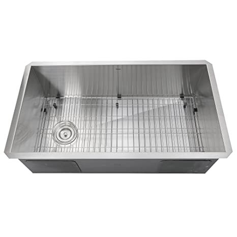 Amazing Nantucket Sinks Zr3218 Osd 32 Inch Pro Series Single Bowl Undermount Kitchen Sink With Offset Drain Stainless Steel Download Free Architecture Designs Osuribritishbridgeorg