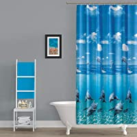 Zethome Tropik Banyo Duş Perdesi 8852 Çift Kanat 2x120x200