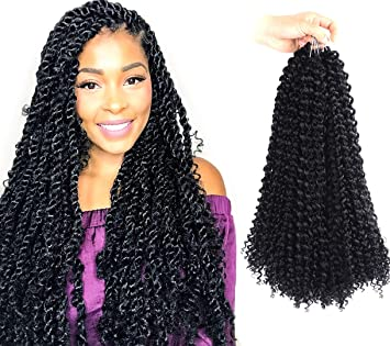 Passion Twist Hair 6 Packs 18 Inch Water Wave For Passion Twist Hair Synthetic Crochet Braiding