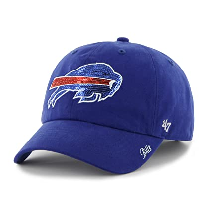 1c6aa56155fbc0 NFL Buffalo Bills Women's '47 Brand Sparkle Team Color Clean Up Adjustable  Hat, ...