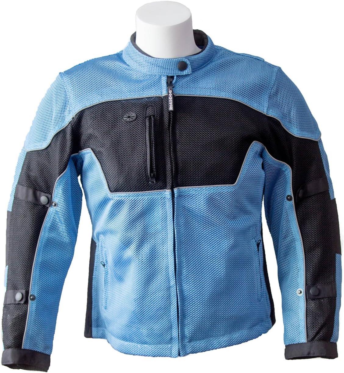RoadDog Hurricane Mesh Motorcycle Riding Jacket Powder Blue Women's Large