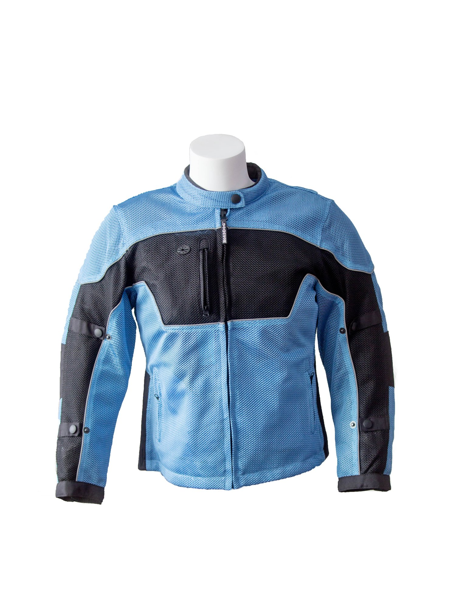 RoadDog Hurricane Mesh Motorcycle Riding Jacket Powder Blue Women's Large
