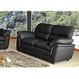 Lovesofas Verona 3 2 1 Seater Bonded Leather Living Room Sofa Suites - Black (2)