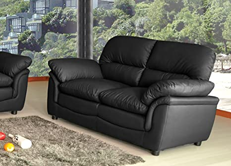 Surprising Lovesofas Verona 3 2 1 Seater Bonded Leather Living Room Sofa Suites Black 2 Pabps2019 Chair Design Images Pabps2019Com