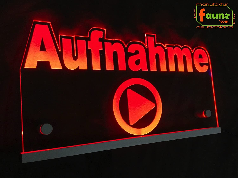 LED Cartel grabación Rojo Opaco como PHC plexiglás de alta ...
