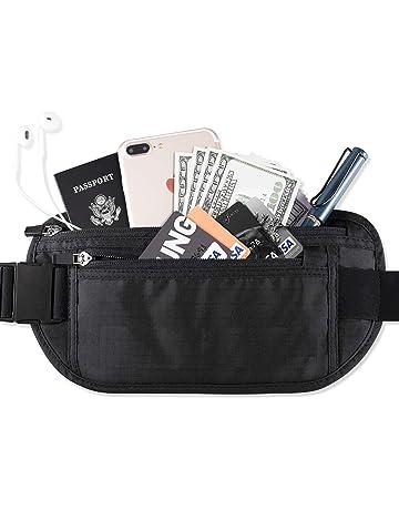 FREETOO Cinturón de Viaje Rinonera Interior para Dinero con Protección RFID  Bolso Cartera Oculta de Viaje fa9e1c3ed734