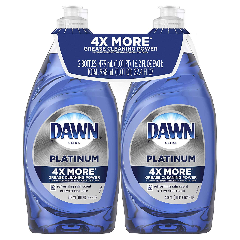 Dawn Platinum Dishwashing Liquid, Refreshing Rain,19.4 Fl Oz, 2 Count