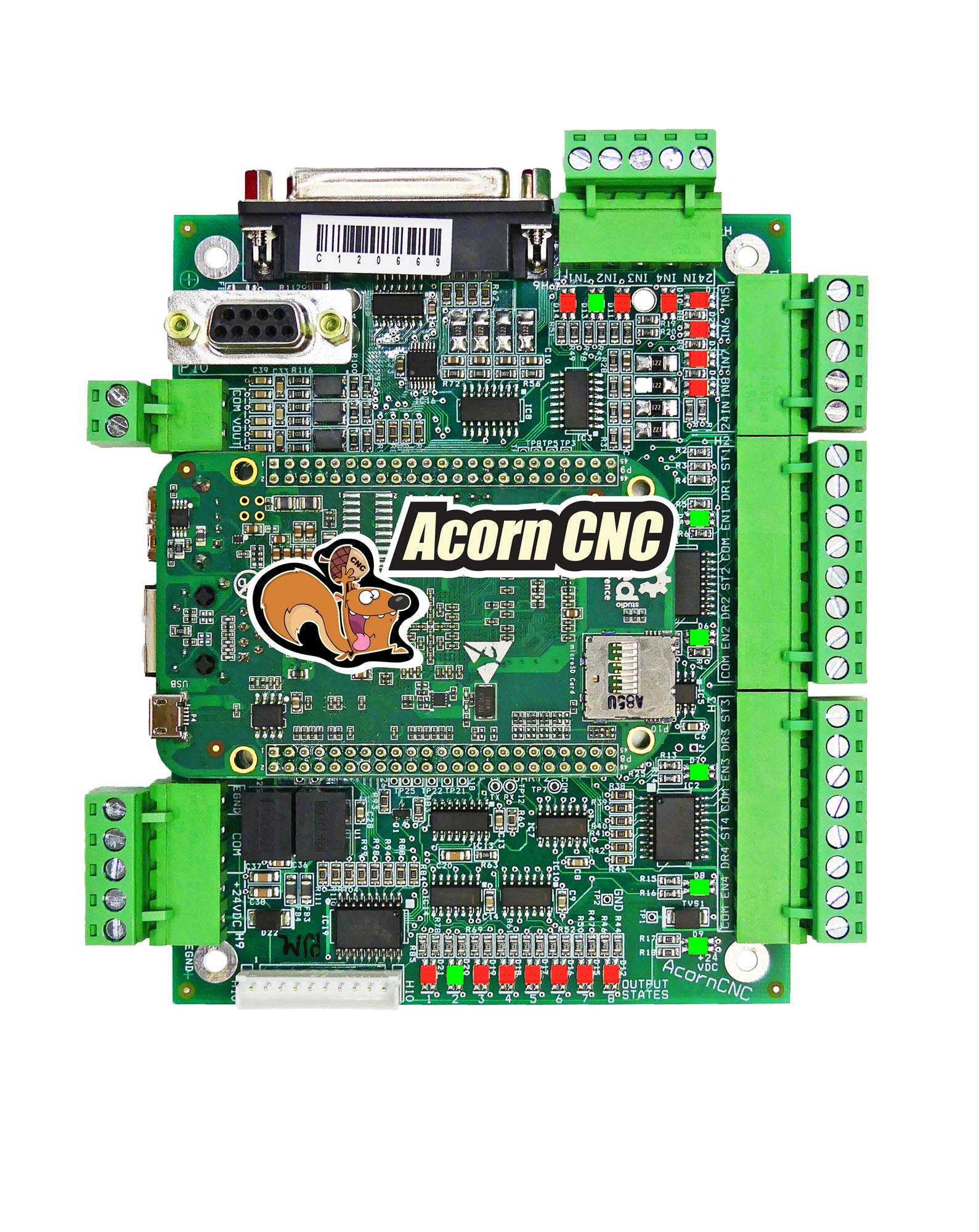 Centroid 4 axis Acorn DIY CNC motion controller kit (REV 4) with CNC  software, replaces MachMotion,WinCNC,Mach3,EMC2,KCAM4,Smooth Stepper