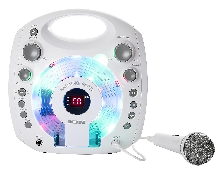 ION Audio Karaoke Party White Lecteur Karaoké Portable avec Effets Lumineux et Micro Blanc Inclus - Blanc inMusic Europe Limited