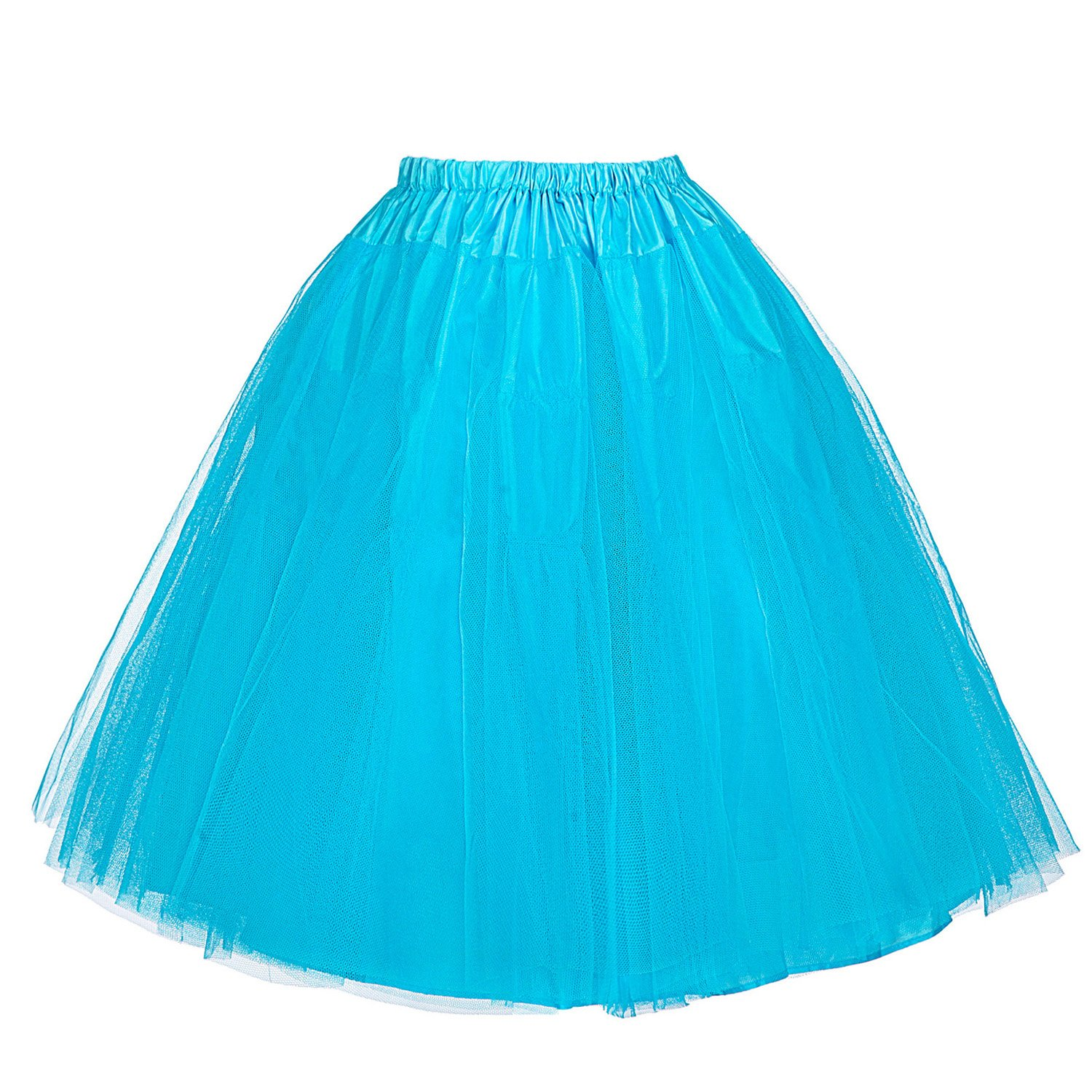 Belle Poque Retro Vintage Swing Dress Crinoline Petticoat Underskirt Skirts Multicolor