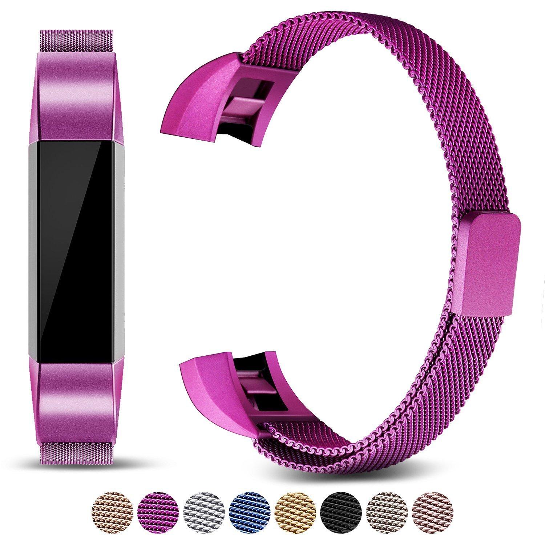 Mornex Bracelet Compatible Fitbit Alta Fitbit Alta HR, Bracelet en Acier Inoxydable Milanaise Remplacment Réglable Fermoir Magnétique product image