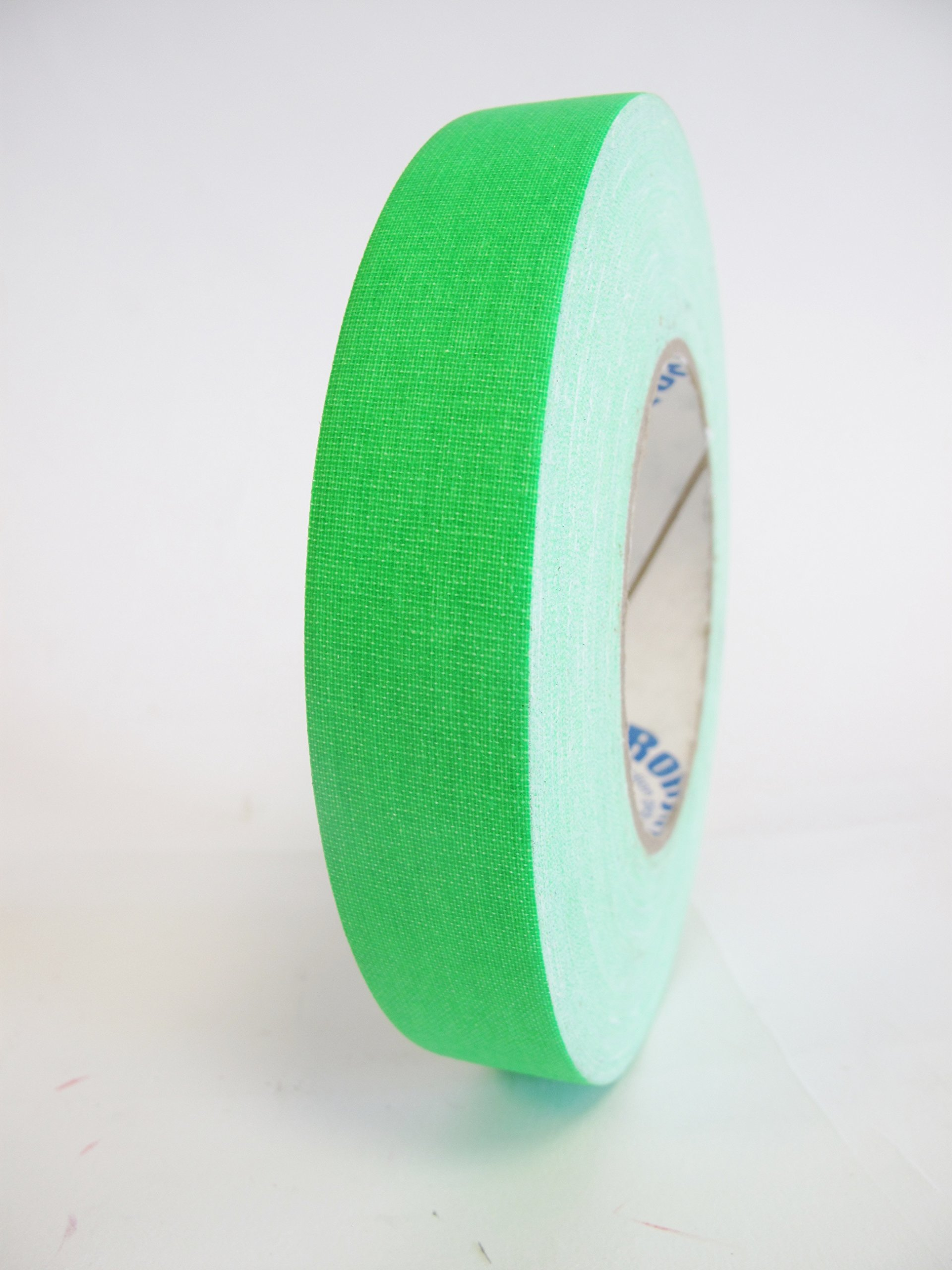 24 Rolls Premium Professional Gaffer Tape - 1 Inch X 50 Yards - Fluorescent / Neon Green Color - 24 Rolls per Case