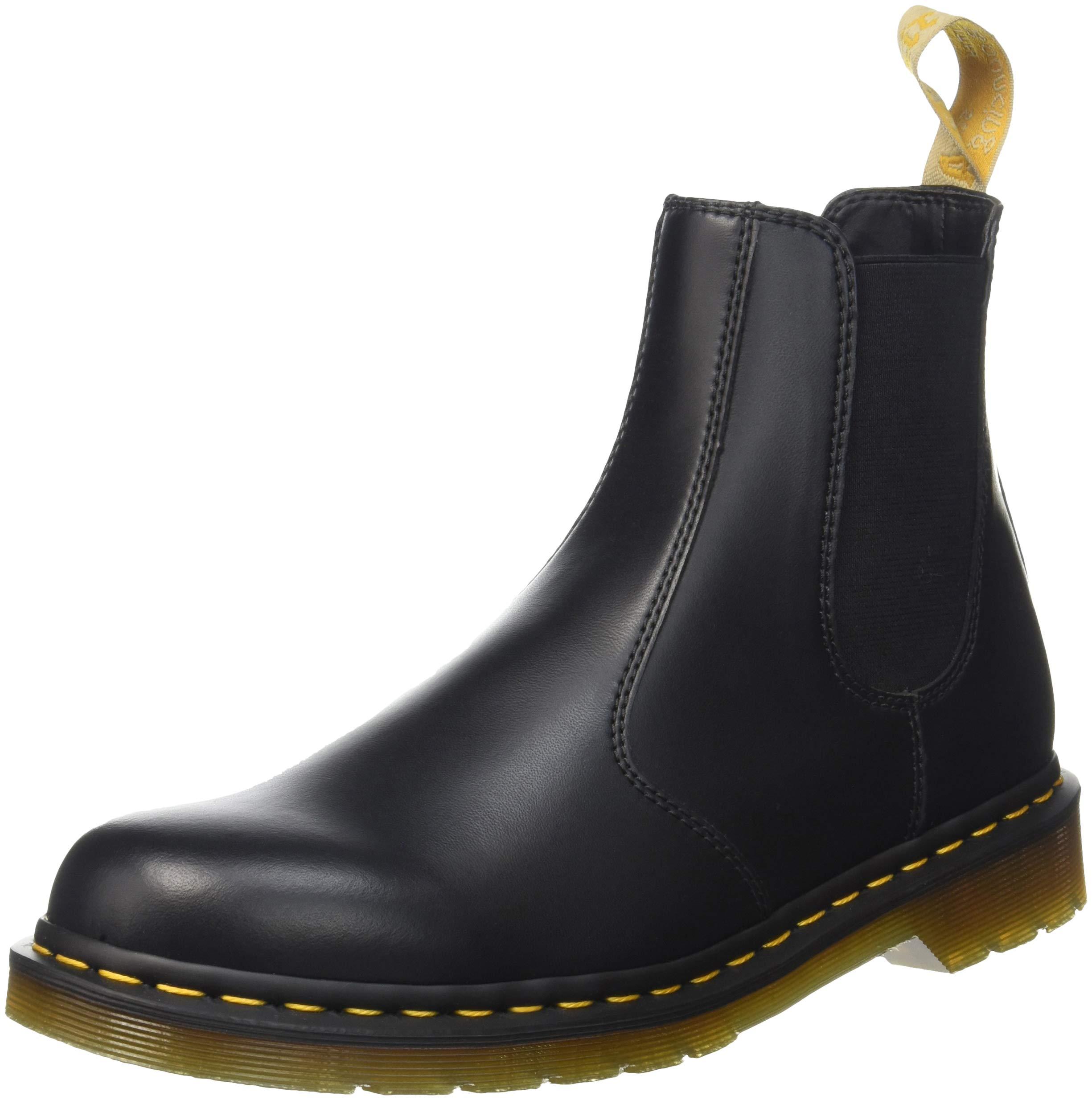 Dr. Martens Men's 2976 Felix Rub Off Chelsea Boot, Black, 3 UK/4 M US
