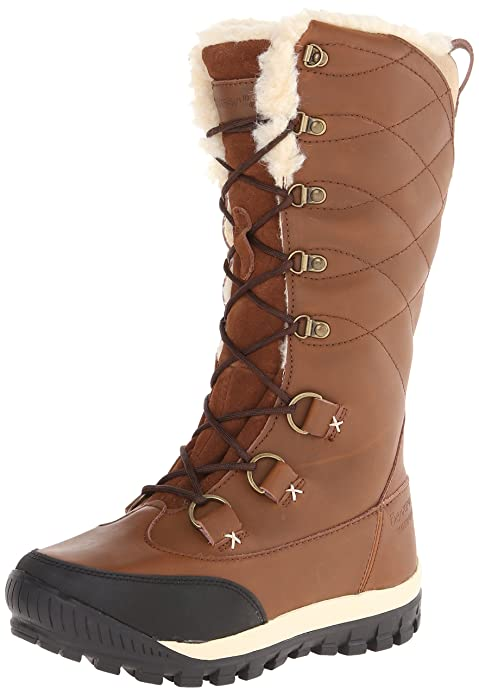 BEARPAW Women's Isabella Winter Boot, Hickory, 8 M US best women's snow boots