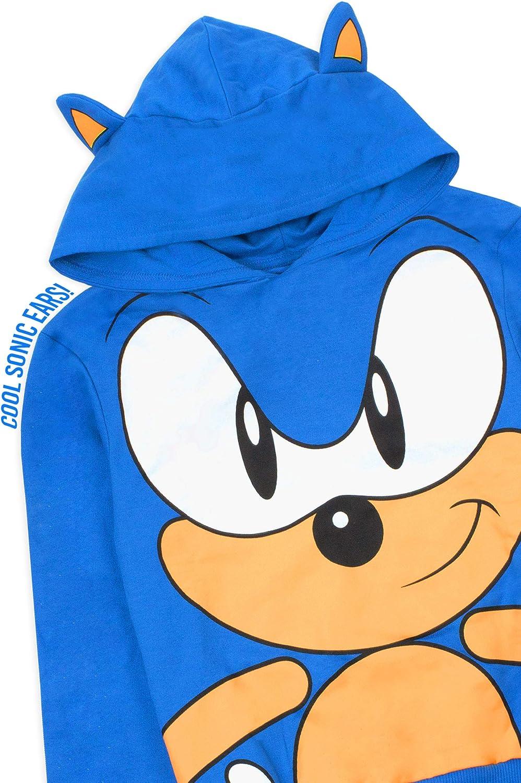 Sonic The Hedgehog Bambini con Cappuccio Orecchie Personaggio 3D di Boy Blue