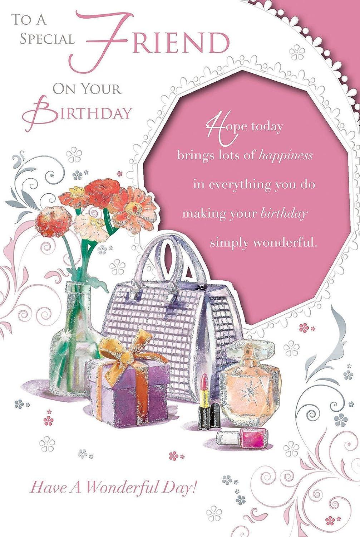 Tarjeta de cumpleaños - feliz cumpleaños amigo flores, bolso ...