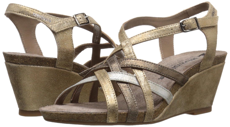 Amazon.com | Mephisto Women's Juliette Dress Sandal, Light Sand/Silver/Dark  Taupe Fashion, 10 M US | Platforms & Wedges
