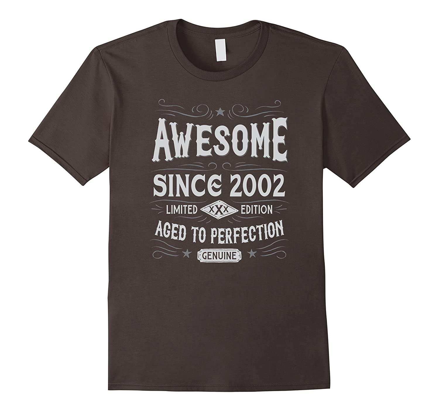 15th Birthday Gift T-Shirt Awesome Since 2002-TD