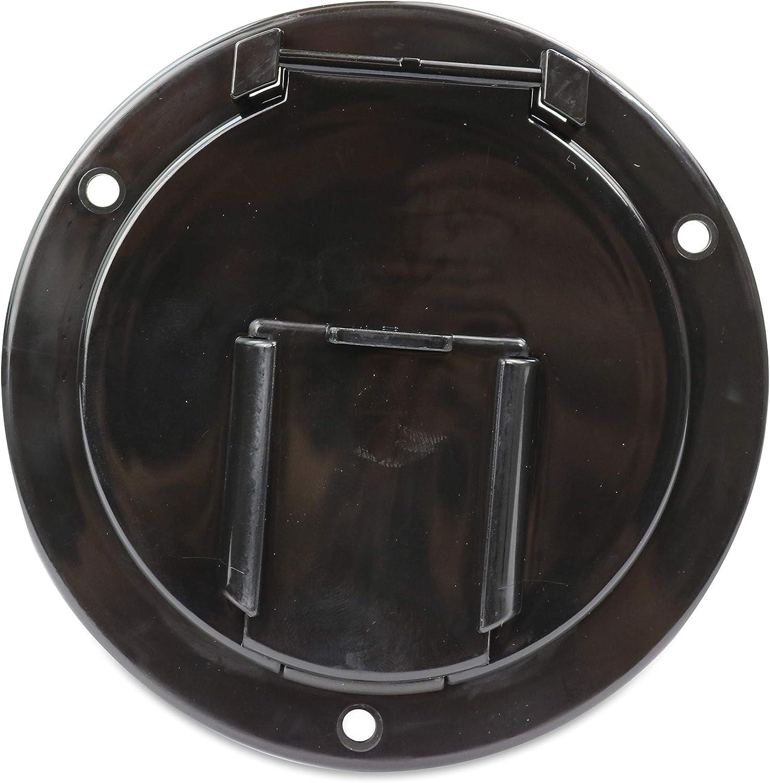 Black-7B RV Camper Trailer Motorhome Power Cord Hatch Electrical Access Door