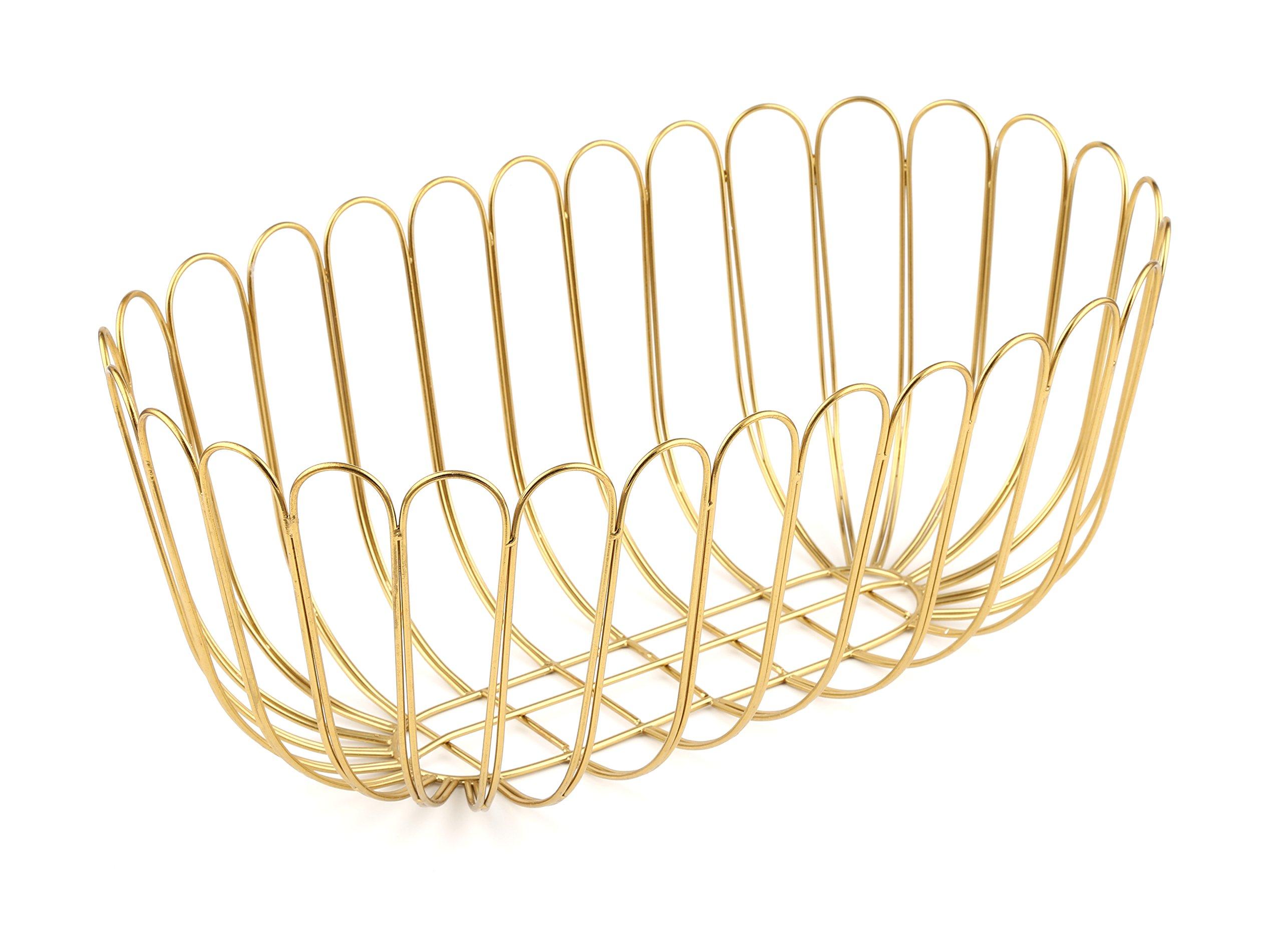 Thirstystone Patina Vie Wire Bread Basket, One Size, Gold