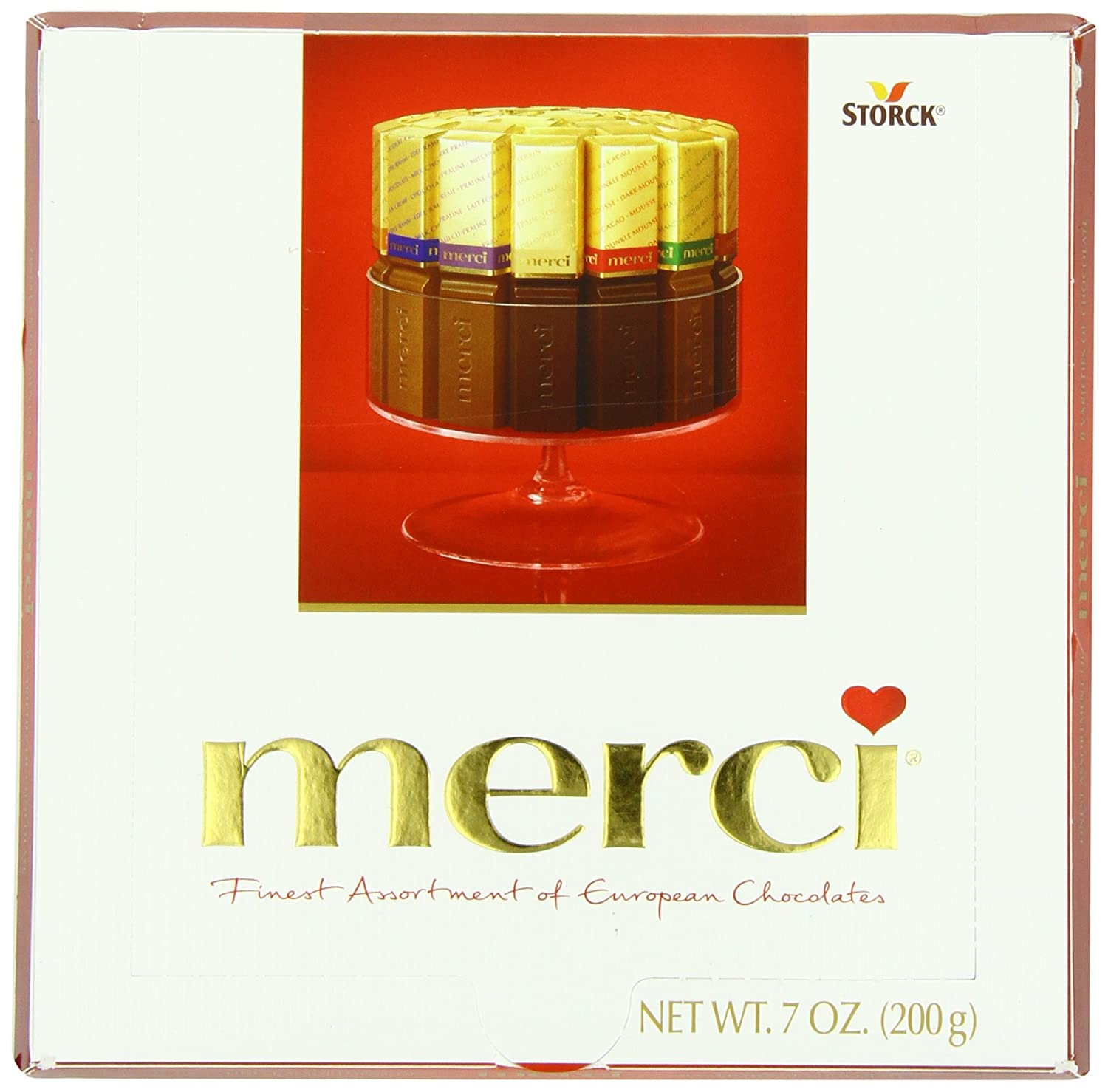 Amazon.com : Merci European Chocolates, 7 Ounce : Chocolate Candy ...