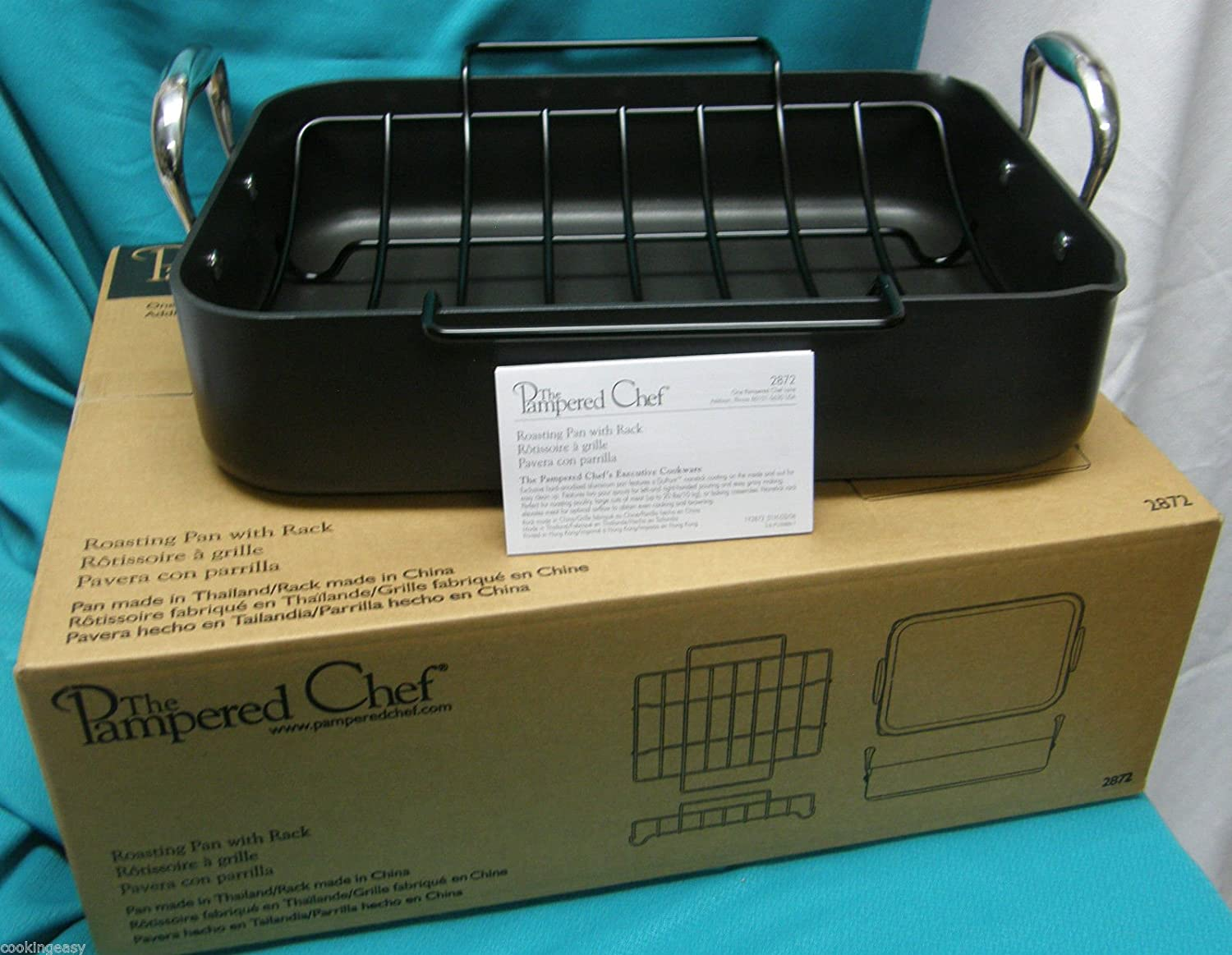 Amazon.com: The Pampered Chef Roasting Pan with Rack ...