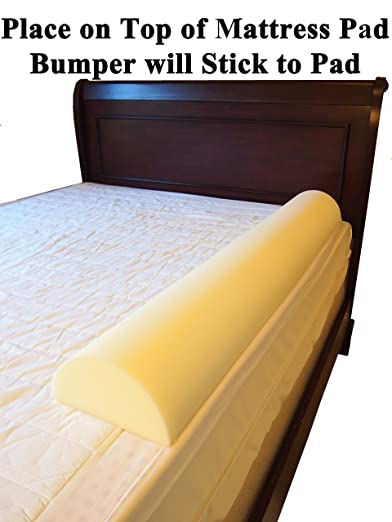Stay Put Big Girl and Boy Bed - Semicircle Bed Rail Bumper Pad for Toddler by Pillowflex
