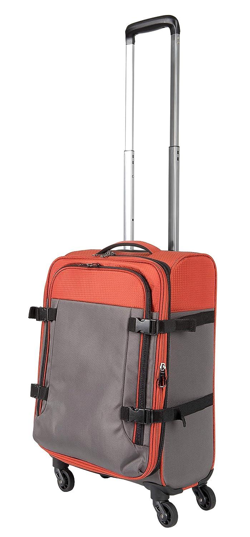Pack.It Bagages de Cabine à Main Légers et Extensibles, 4 roulettes Rotatives à 360º, Gris et Brique, Approuvé pour Ryanair, Easyjet e AirFrance