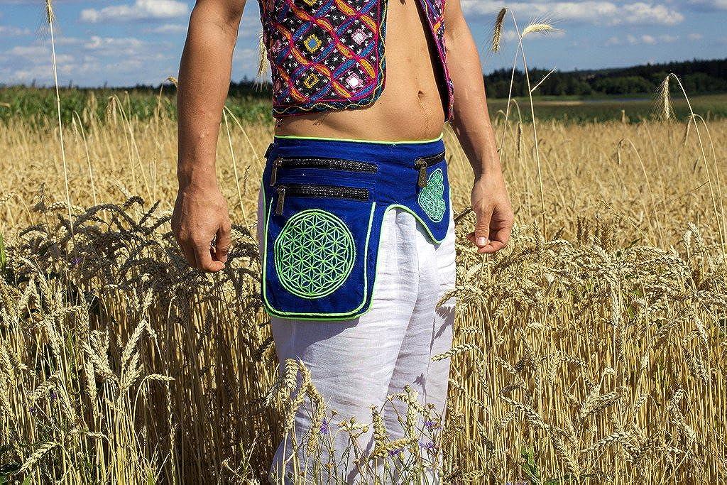 ImZauberwald Flower of Life Mandala Beltbag Holy Geometry UV Active 5 Pockets