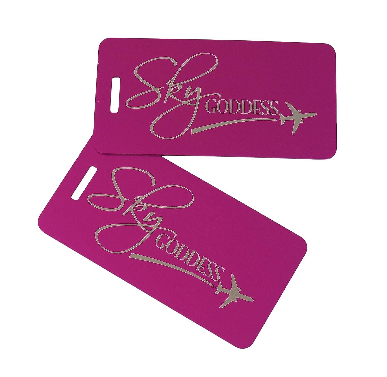 Sky Goddess Bag Tag Set of Two Purple