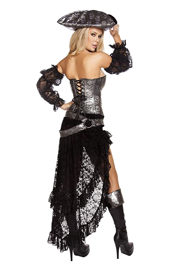 sc 1 st  Amazon.com & Amazon.com: Roma Costume Womenu0027s 4 Piece Deadly Pirate Captain: Clothing