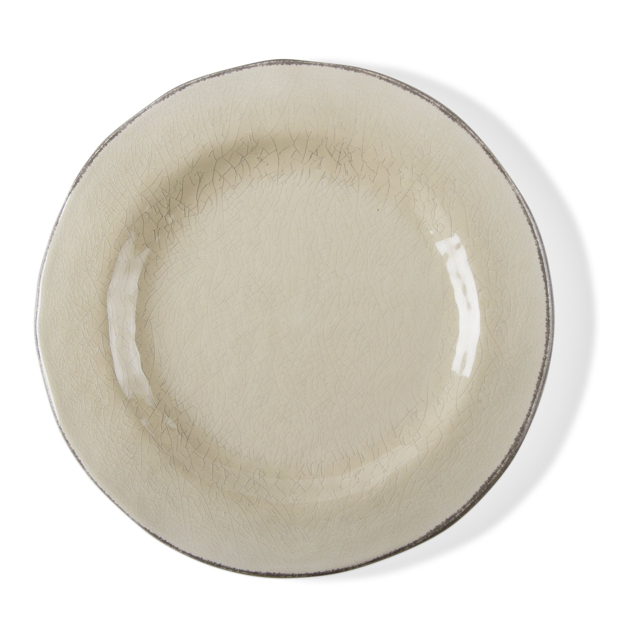 tag - Veranda Melamine Dinner Plate, Durable, BPA-Free and Great for Outdoor or Casual Meals (Set Of 4) (Linen) by Tag