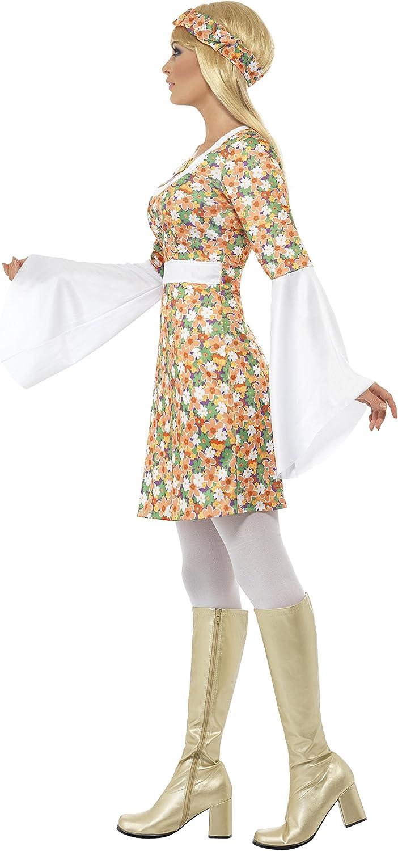 Smiffys Gre: S 23706 Damen Flower Power Kostm Kleid und ...