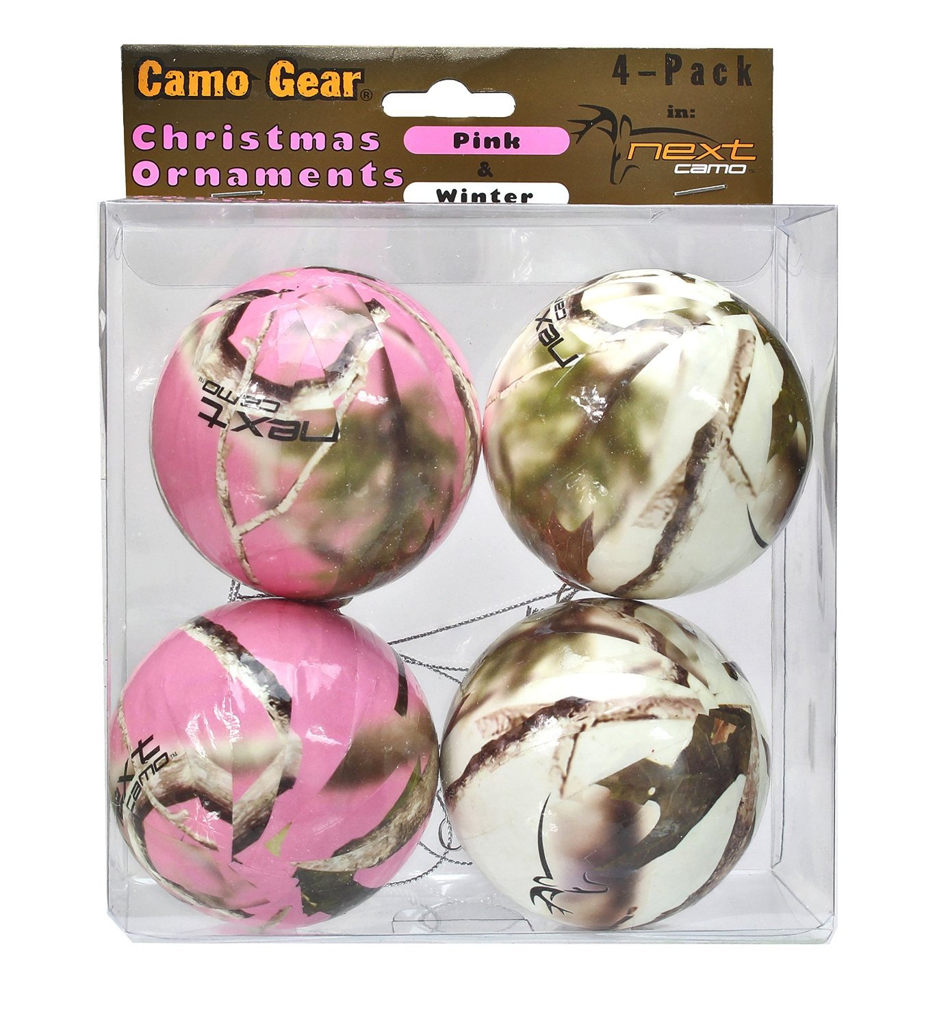 Superior Pink Camo Christmas Ornaments Part - 8: Buy Realtree Camo Christmas Ornaments Pink U0026 White 8 Pk Camouflage Online  At Low Prices In India - Amazon.in