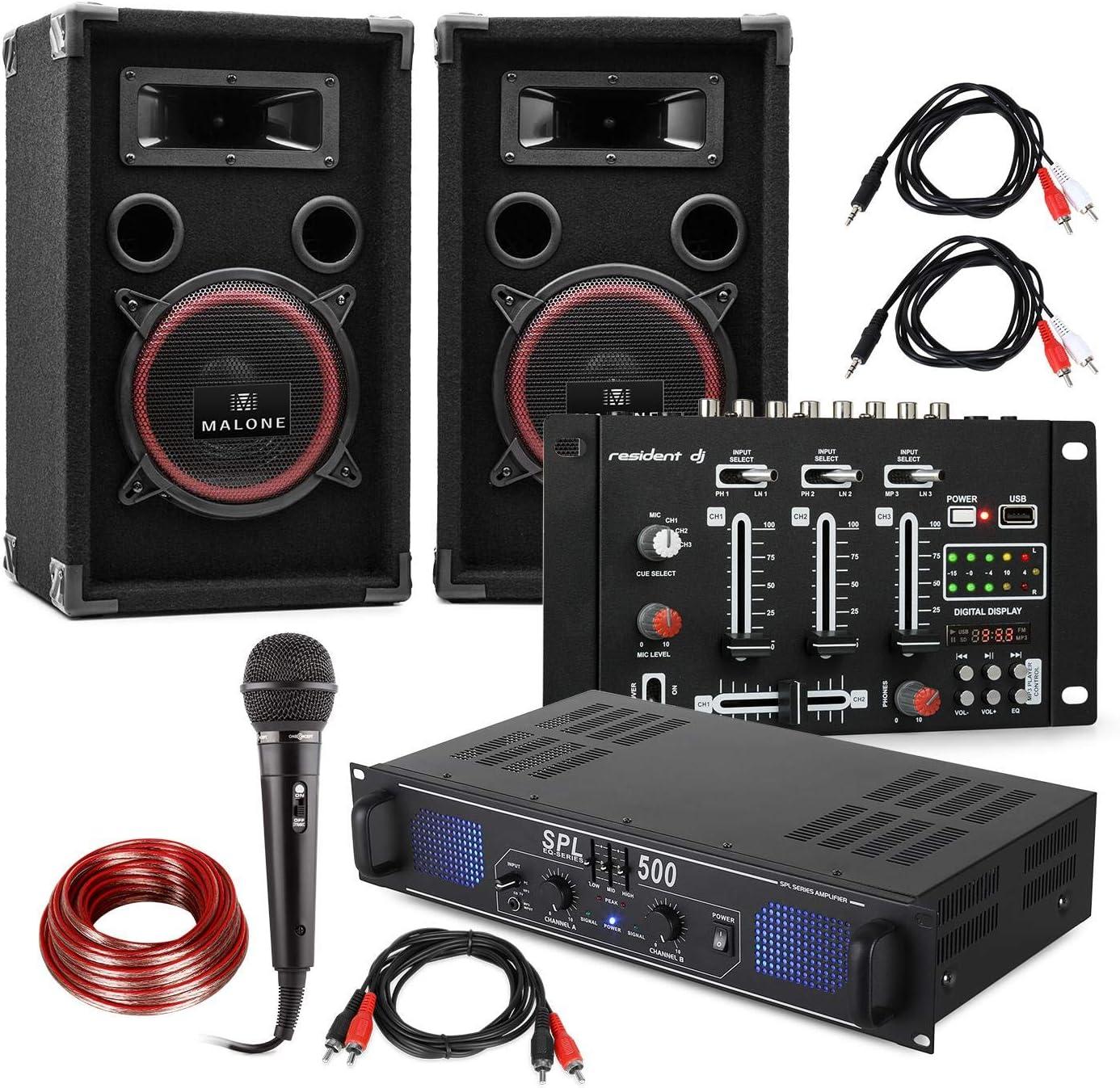 DJ Juego de PA DJ-14 USB - Amplificador de PA , Mesa de Mezclas ...