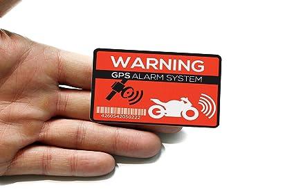 GPS Alarma Pegatinas Moto – 2 pieza Netbote24 – Pegatinas de advertencia – PREMIUM CALIDAD – 7 cm x 5 cm – Aplicación de exterior – Prevención ...