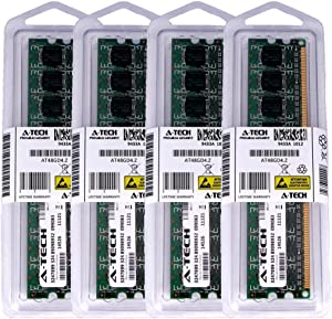 4GB KIT (4 x 1GB) for Dell Vostro 200 220 Mini Tower 220s Slim Tower 320 400 420 Tower 410 A180 Tower. DIMM DDR2 Non-ECC PC2-6400 800MHz RAM Memory. Genuine A-Tech Brand.