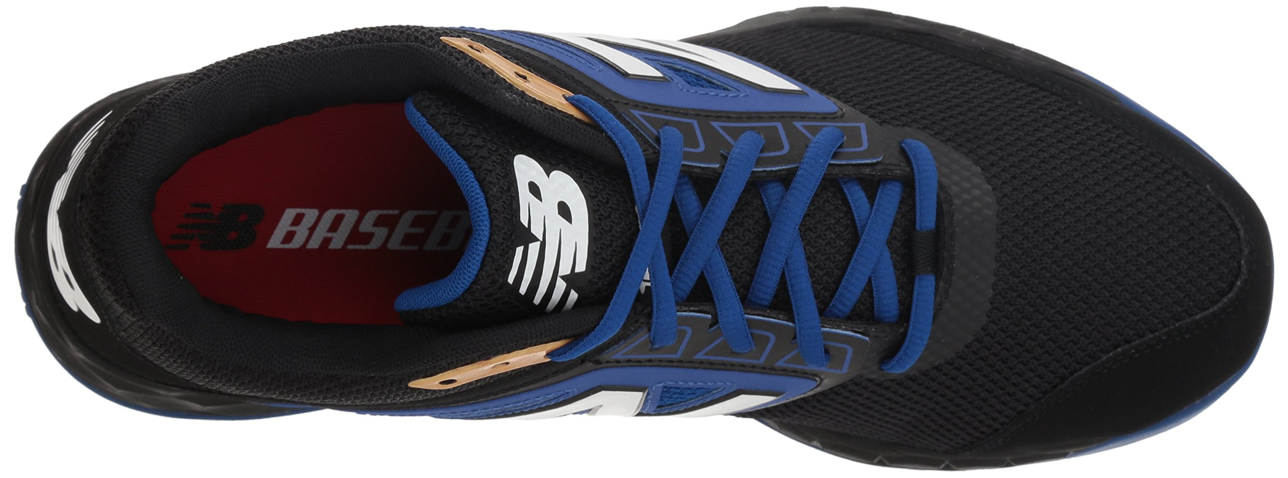 New Balance Men's 3000v4 Turf Baseball Shoe, Black/Blue, 5 D US by New Balance (Image #7)