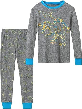 Conjunto de pijama de verano para niños de 1 a 12 años, 100% algodón, 2 piezas de pijamas cortos, para niños de 1 a 12 años