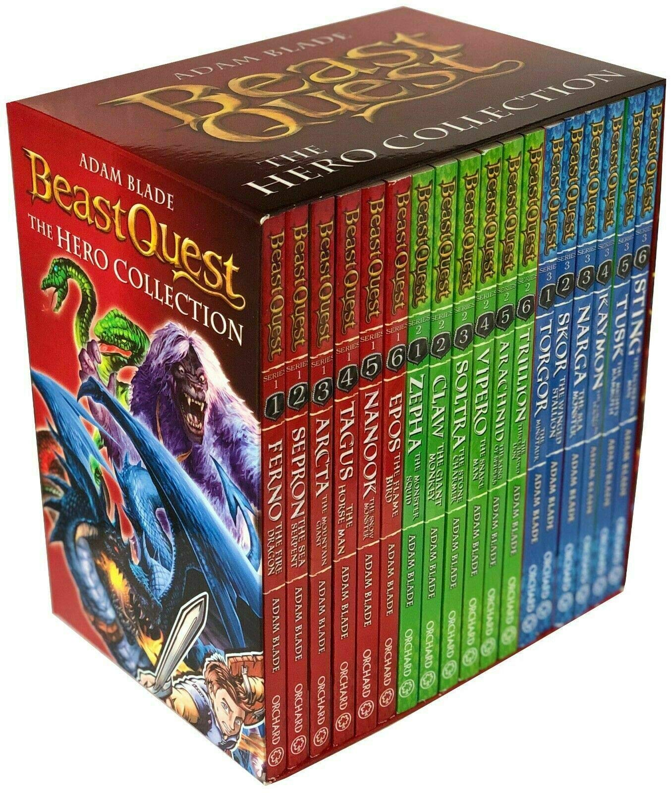 Beast Quest Series 1 2 And 3 18 Books Set Collection Amazon Co Uk Blade Adam 9781408316467 Books