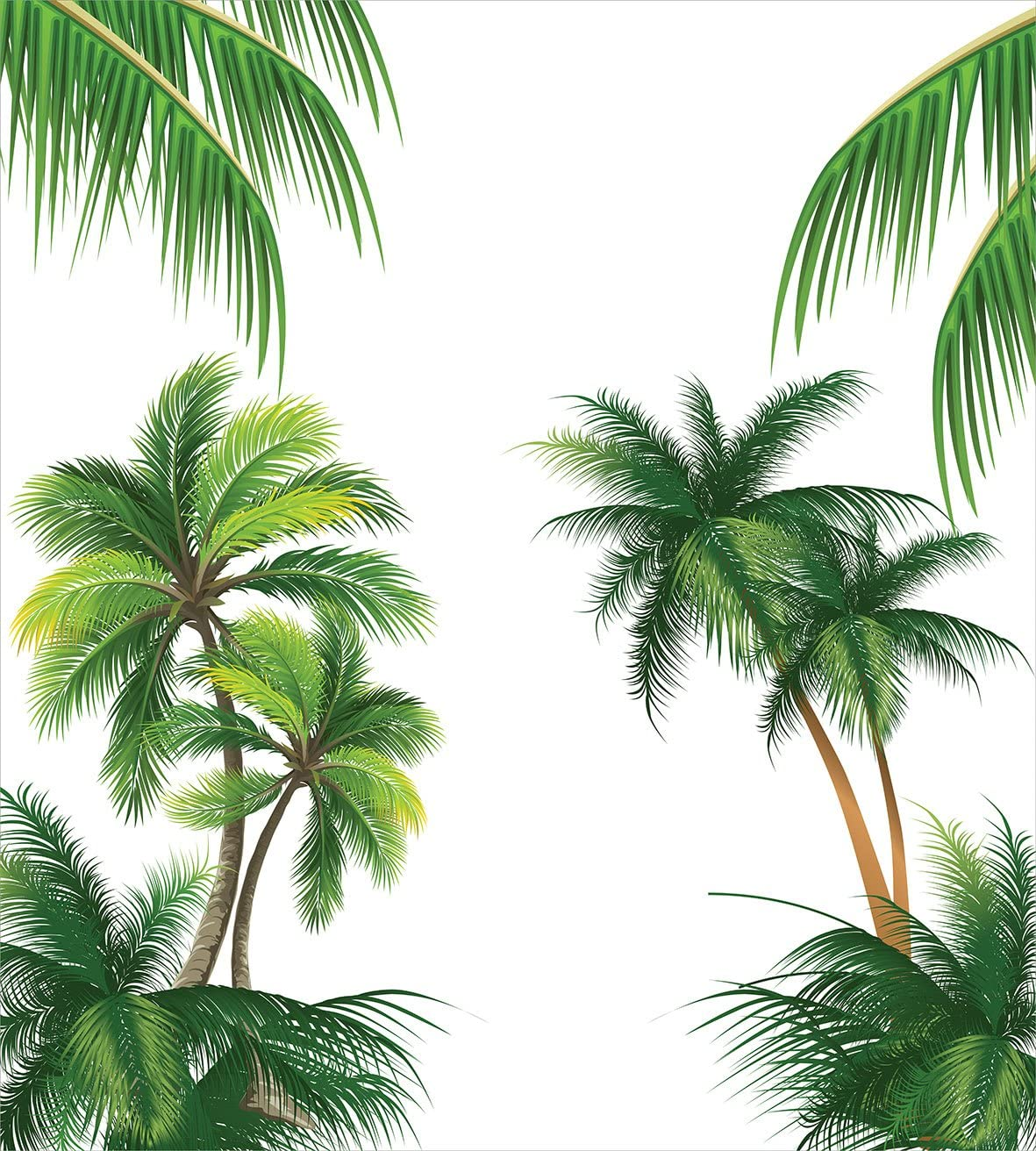 A Decorative 3 Piece Bedding Set with 2 Pillow Shams Coconut Palm Tree Nature Paradise Plants Foliage Leaves Digital Theme Illustration Art Ambesonne Tropical Duvet Cover Set King Size Hunter Green nev/_29047/_king