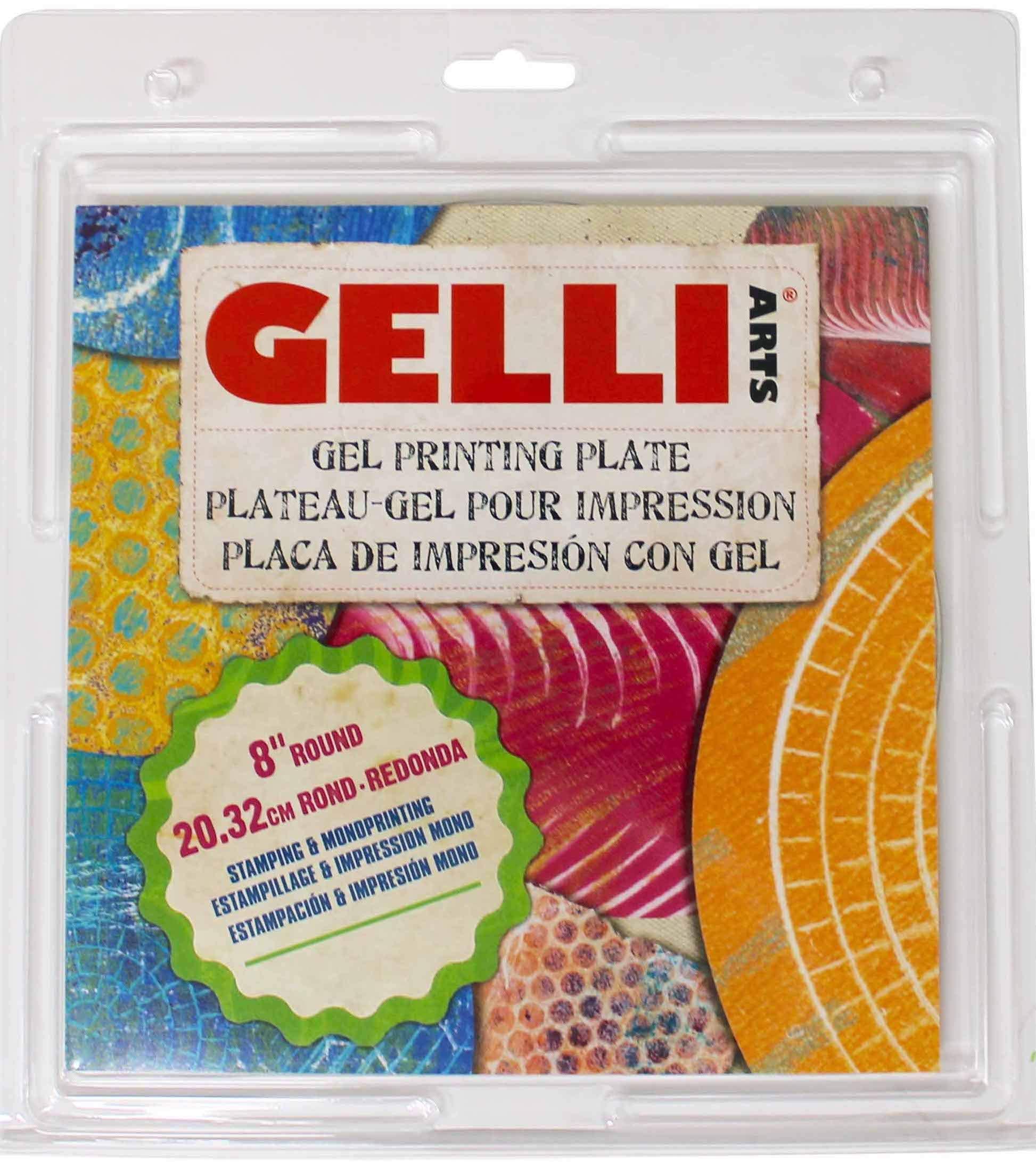 """Gelli Arts 8"""" Round Gel Printing Plate"""