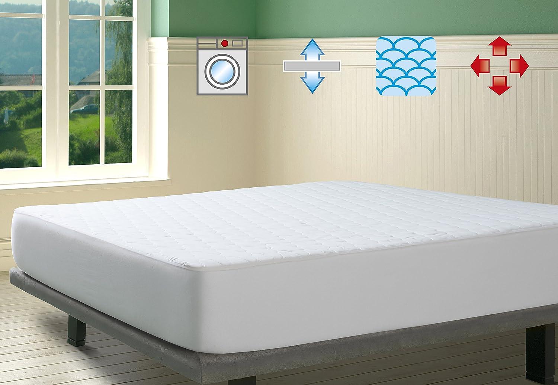 Savel, Protector Acolchado tacto seda, Reversible, 90x190cm (para camas de 90): Amazon.es: Hogar