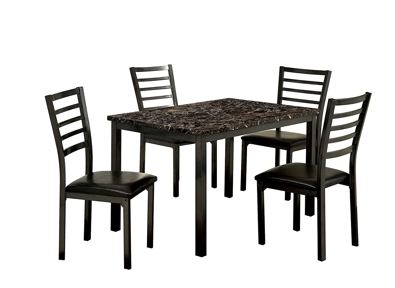Magnificent Furniture Of America Casella 5 Piece Faux Marble Top Dining Table Set 48 Inch Download Free Architecture Designs Aeocymadebymaigaardcom