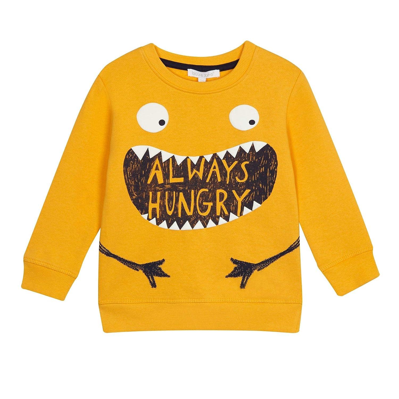 bluezoo Kids Boys' Yellow 'Always Hungry' Slogan Sweater