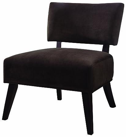 Beau Coaster Microfiber Accent Chair, Chocolate