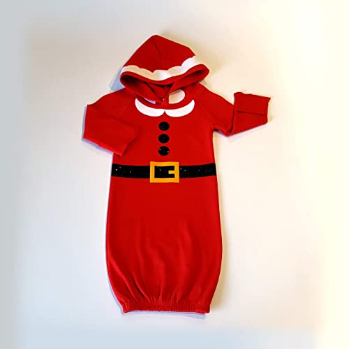 33f50708ae1f Amazon.com  Newborn Santa Gown Coming Home Outfit 0-3 months Red Hooded Baby  Gown Christmas Eve Baby Outfit Baby Dress Baby Boy Baby Girl  Handmade
