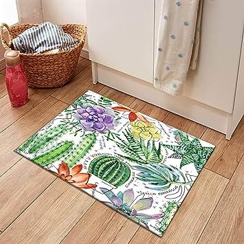Round Floor Door Mat Area Rugs Bedroom Carpets Succulents Cactus Tropical Plants