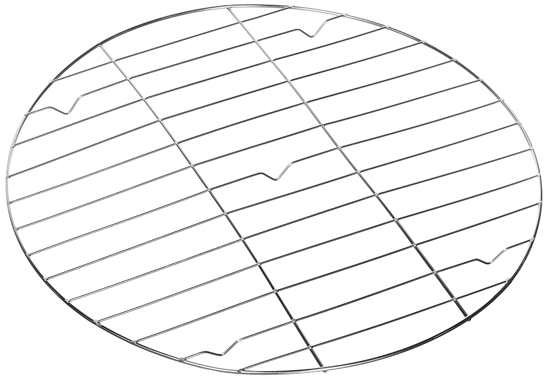 32 x 32 x 1,7 cm Zeller 42477 Grille pour Laisser Refroidir Rond 32cm en INOX Argent Acier Inoxydable