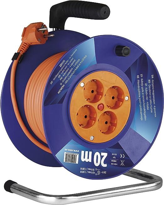 Emos Kabeltrommel Schuko 20m Kabel Mit 1mm Querschnitt 4 Steckdosen Indoor Kabelrolle Schutzklasse Ip 20 2300 W 230 V Baumarkt
